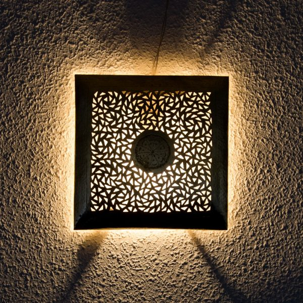 Wall Lamp - Nickel Plated Brass - Aqhawan Model