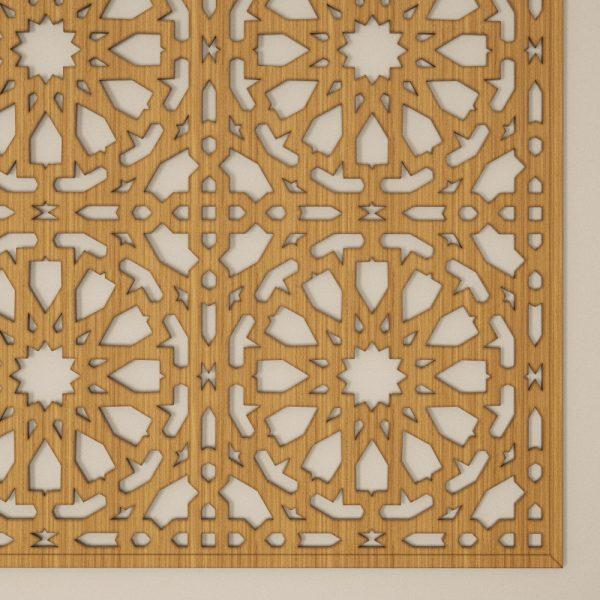 Arabic Lattice Frame - Alhambra Design - 100 cm x 100 cm