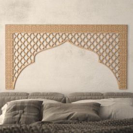 Arab Headboard Bed 160cm - Wood - Bab Ayyub Model