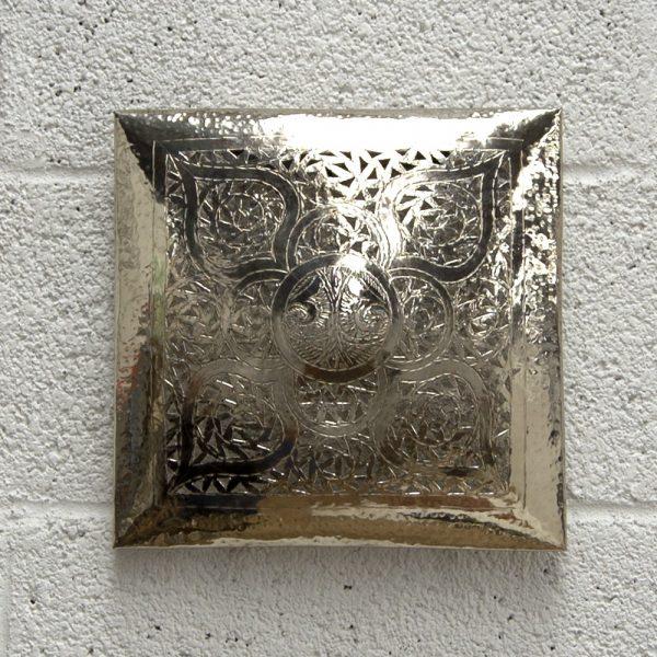 Arabic Wall Sconce - Nickel Plated Brass - Khabazaa Model