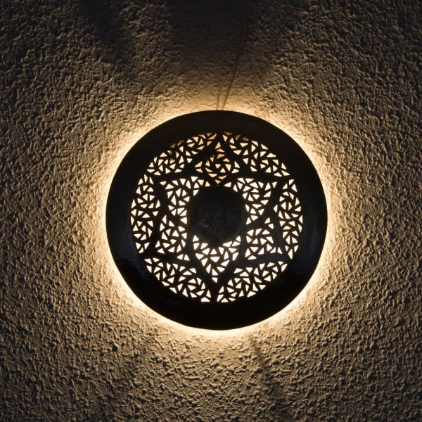 Arabic Ceiling or Wall Ceiling - Nickel Plated Brass - Batin Model
