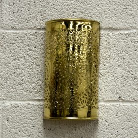 Arab Cylinder Wall Lamp - Golden Brass - Astawana Model