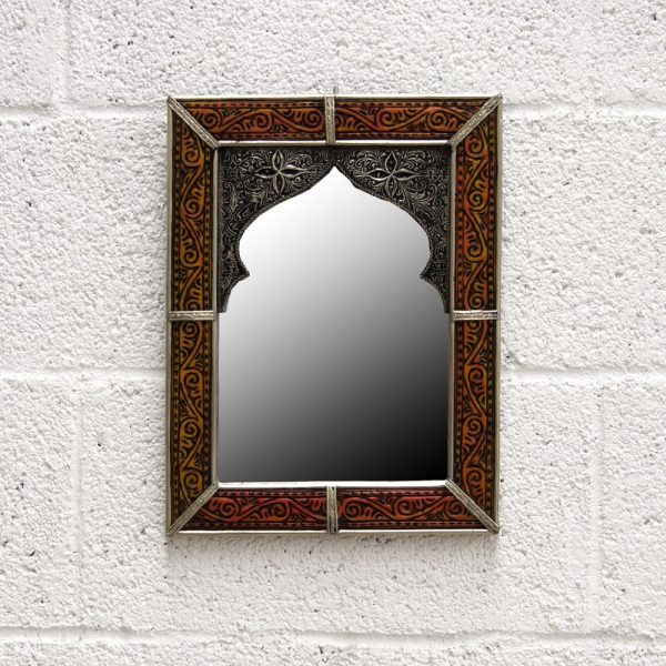 Arabic Decoration Mirror - Carved Alpaca - Bab Zahara Model