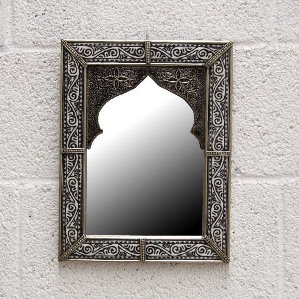 Arabic Decoration Mirror - Carved Alpaca - Bab Zaharatun Model