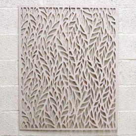 White Wood Lattice - Autumn Design - 100 x 80 cm