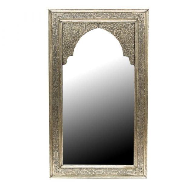 Arabic Decoration Mirror - 120 x 70 cm - Carved Alpaca - NajmaHambra Model