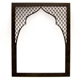 Arabic Lattice Frame - Wood - Model BAB LOTUS - 29 x 23cm