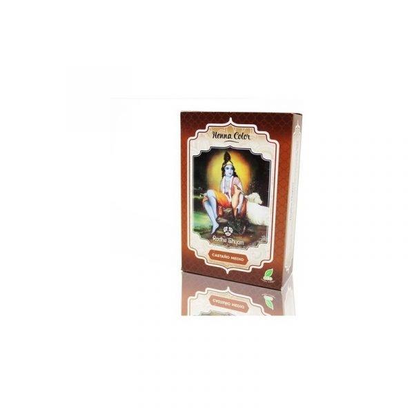 Natural Henna Hair Dye - Medium Brown Color - Radhe Shyam - 100 gr