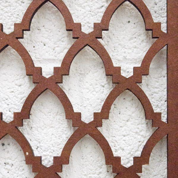 Arab Headboard Bed 160cm - Wood - Mahogany Varnished - Bab Ayouba Model