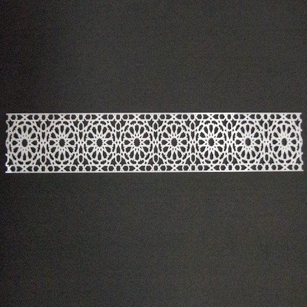 Arabic Methacrylate Lattice Template 50 x 10 - Alhambra Model