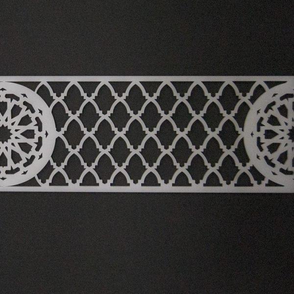 Arabic Methacrylate Lattice Template 50 x 10 - Reusable - Model 10