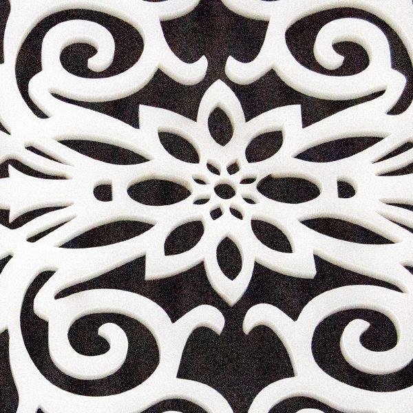 Floral Methacrylate Lattice Template 40 x 20 - Baroque Pattern