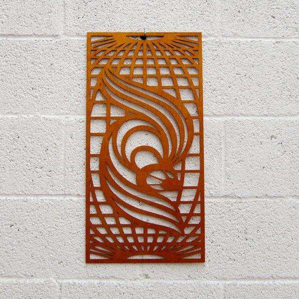 Wooden Lattice - Phoenix Design - 60 x 30 cm