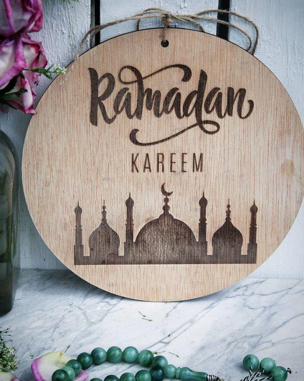 Ramadan Kareem painting - Laser cut - Ramadan decoration