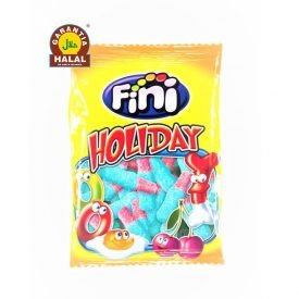 Blue and Pink Bottles - Halal Candies - Gluten Free and 0% Fat - Fini - 100 gr