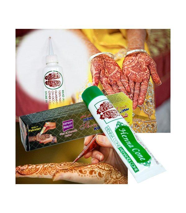 Henna Tube Natural and Temporary Tattoo - Brown -