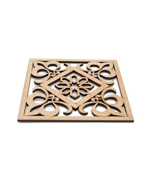 Trivet - 30x30 cm - MDF - Laser Cut - Baroque-Arabic design