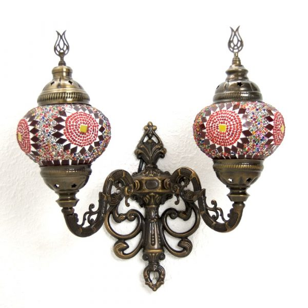 Double Turkish Wall Lamp - Multicolor - Kuratein Model - nº 2