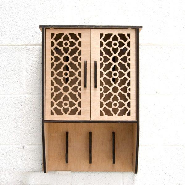 Wardrobe + Coat Rack - 100% Wood - Jaima Model