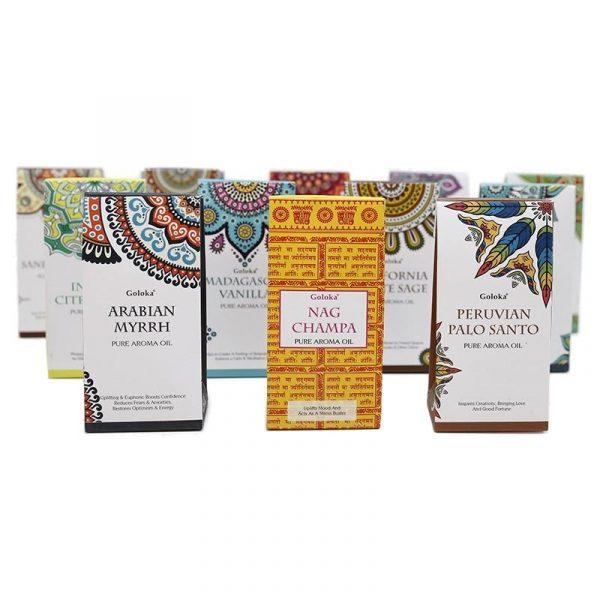 Pack 12 x Essential Oils - Burner - Assorted - Goloka 120 ml