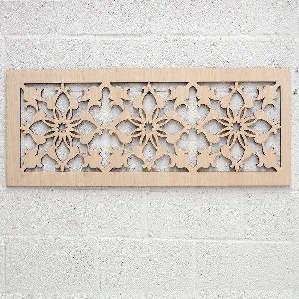 Wooden Lattice - Laser Cut - Medieval Design - 120x 50 cm