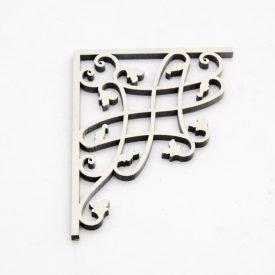 Laminated Wood Corner - Baroque Celosia - 12 x 12cm - Baroque Design 3 - White