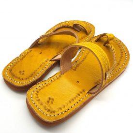 Yellow Woman Sandal - 100% Leather - Safra Model