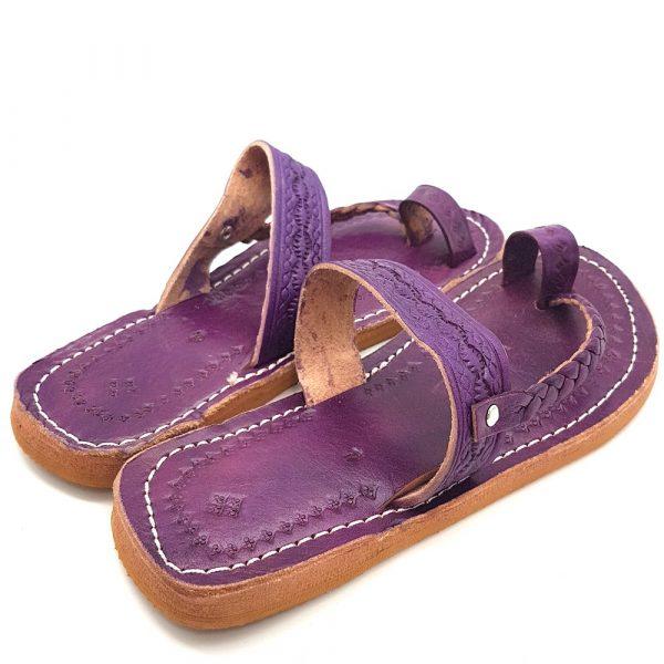 Light Purple Woman Sandal - 100% Leather - Arijwani Model