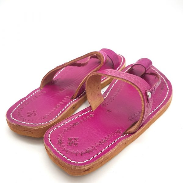 Light Pink Woman Sandal - 100% Leather - Alwarda Model