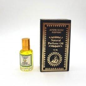 Natural Perfume - Jasmine - 0% Alcohol - Ayurvedic Aromas - 10 ml