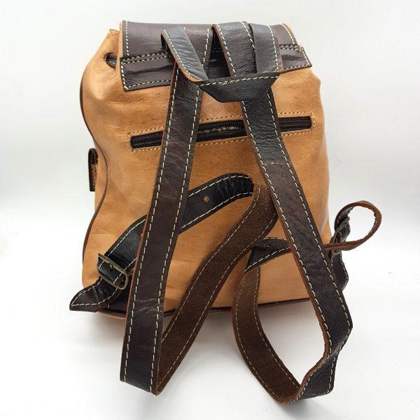 100% Leather Backpack - Leather Goods - Aans Model - Several Pockets