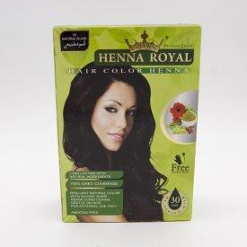 Henna Royal Black - Crown - Novelty - Gift Gloves + Brush