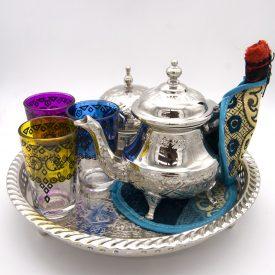 Special tea set - OFFER - Great Quality Teapot + 6 Glasses - Sugar Bowl + Morito + Trivet + Turkish Candle Holder GIFT
