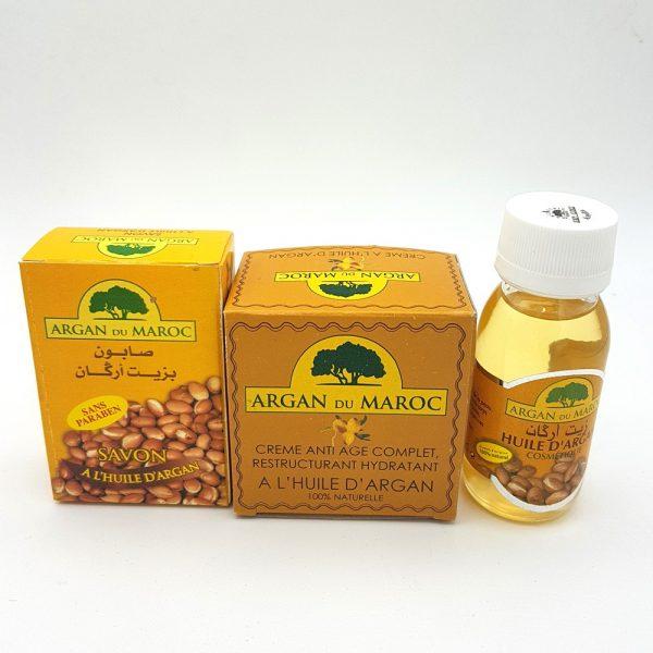 Argan Soap + Argan Facial Cream + Argan Oil Pack - Argan du Maroc