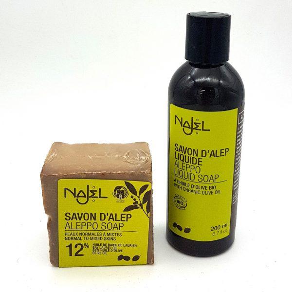 Pack Soap + Shampoo Olive Oil and Aleppo Laurel - Najel