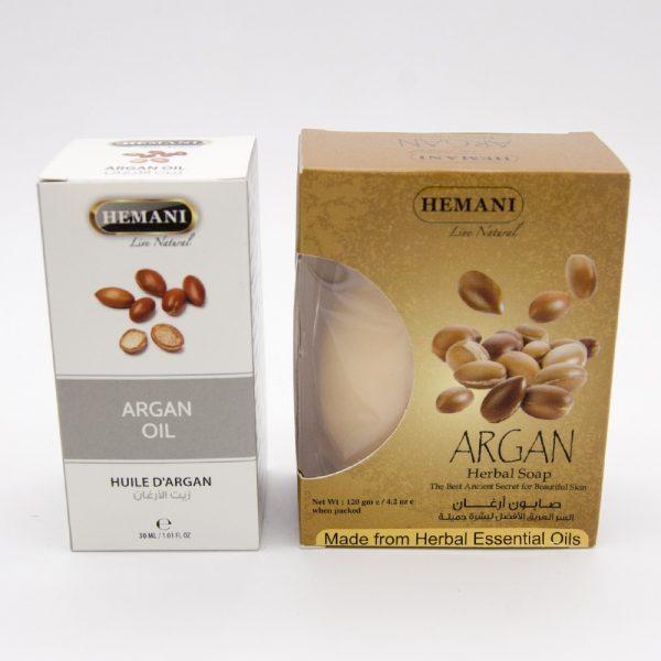 Argan Oil + Argan Soap Pack - Hemani