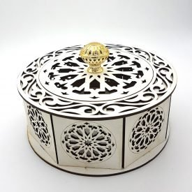 Candy Box - Multiple Uses - Alhambra + Floral Model - White Color