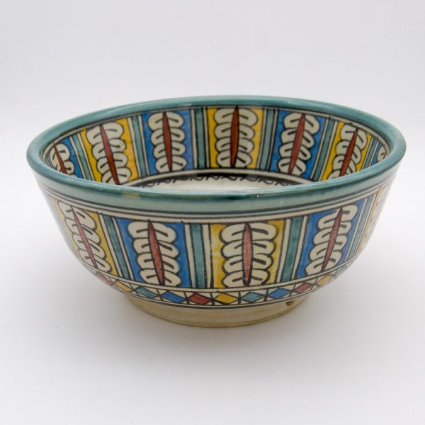 Bowl or Salad Bowl - Ceramic Fes - Multicolor - 20 x 9 cm