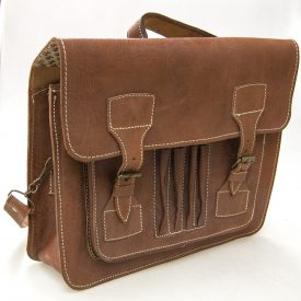 100% Natural Leather Briefcase - Leather Goods - Executive Model - Brown Color