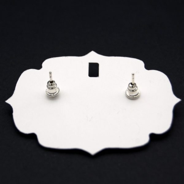Short Button Earring - Inspired by the Alhambra - Al-Andalus Tiles - Arbaa Model