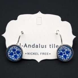 Button Earrings - Inspired by the Alhambra - Al-Andalus Tiles - Zahra model