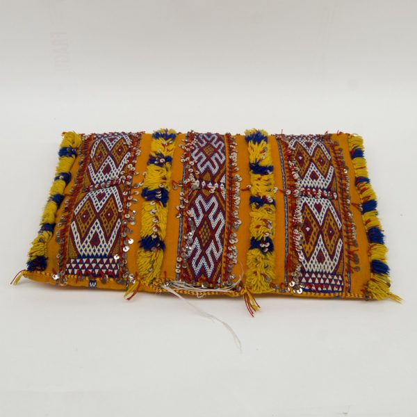 2 x Berber Cushion Cover - Vintage Style - Orange - Antique