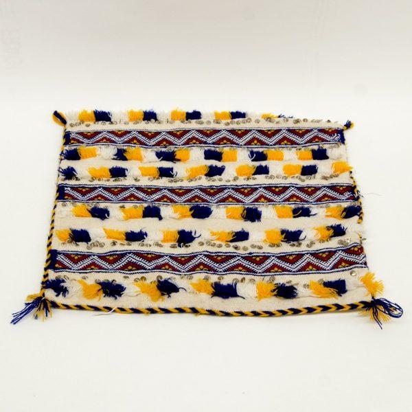 Berber Cushion Cover - Vintage Style - 37cm x 47cm - Multicolor-White Background