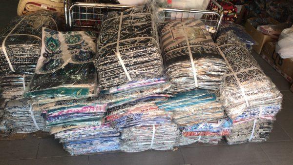 Lot 50 x Assorted Indian Fabrics 210 x 240 cm