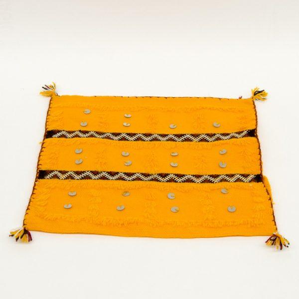 Berber Cushion Cover - Vintage Style - 36cm x 36cm - Yellow