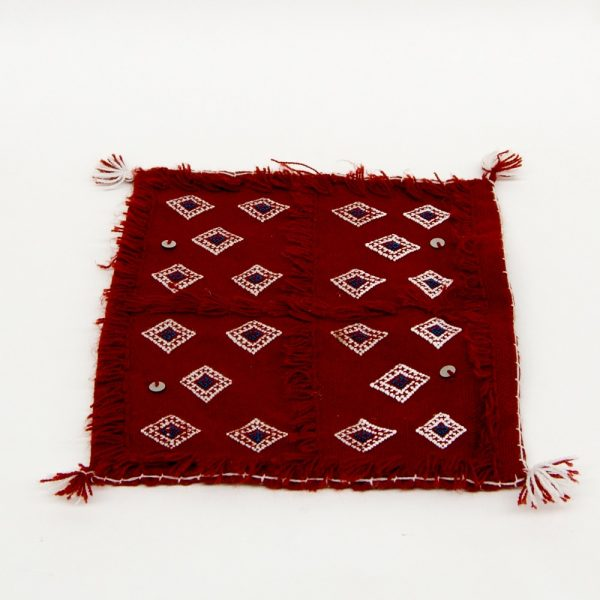 Berber Cushion Cover - Vintage Style - 30cm x 30cm - Red