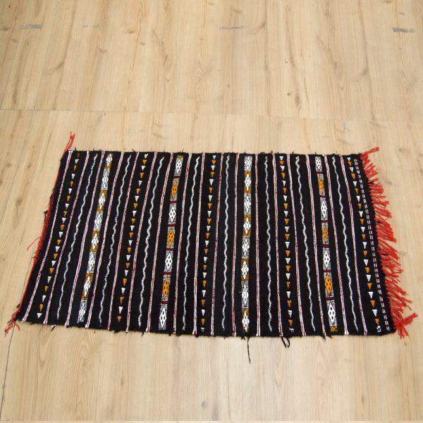 Moroccan Tapestry - Vintage Berber Style - 160cm x 90cm - Black