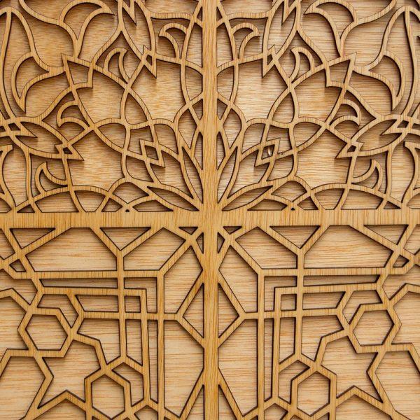 Sultan Door - Decorative Wooden Lattice - 100 x 88 cm