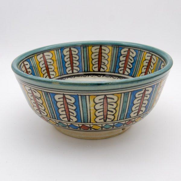 Moroccan Bowl or Bowl - Salad Bowl - Fez Ceramic - Hand Painted - Multicolor - 15 x 7 cm