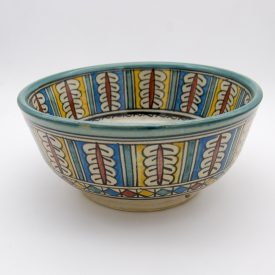 Moroccan Bowl or Bowl - Salad Bowl - Fez Ceramic - Hand Painted - Blue and White - 25 x 11 cm